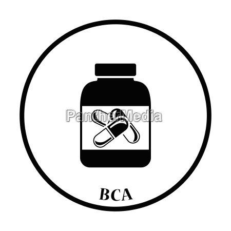 icon of fitness pills in container