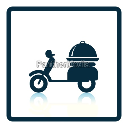 delivering motorcycle icon