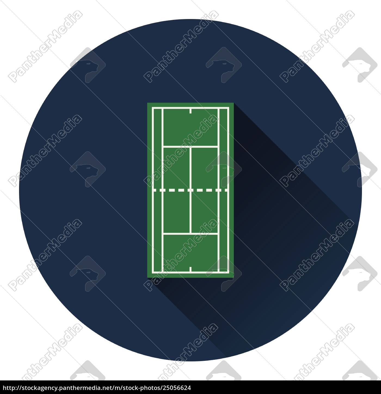 tennis, field, mark, icon - 25056624