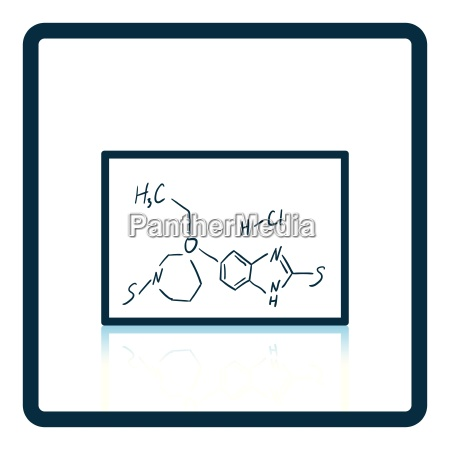 icon of chemistry formula on classroom