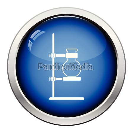 icon of chemistry flask griped in
