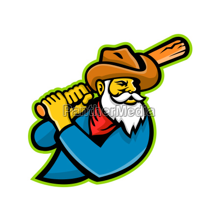 miner baseball player mascot