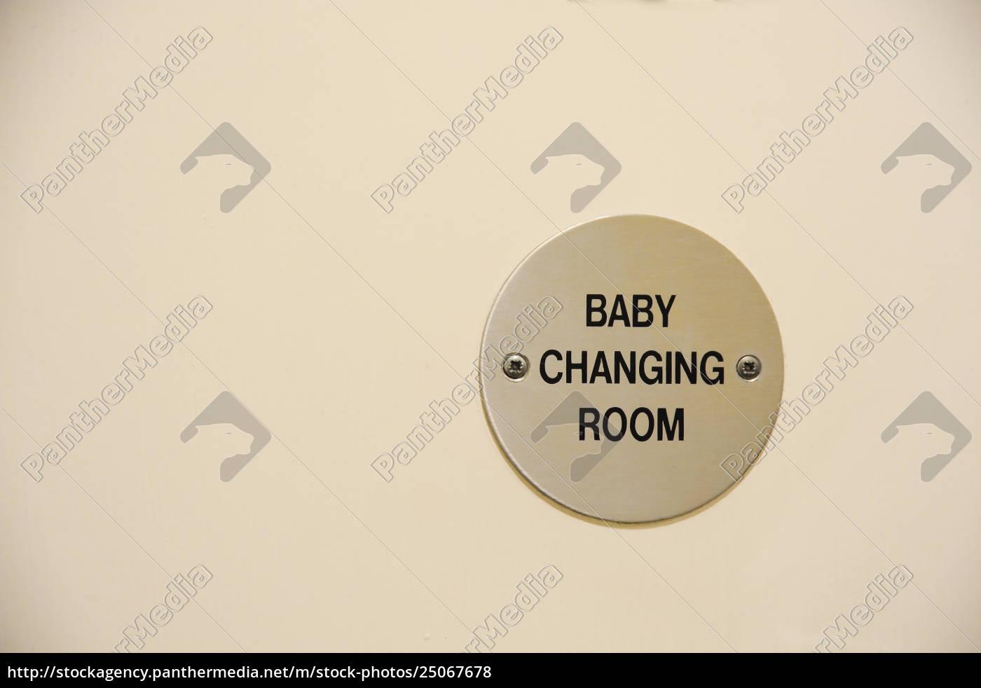 door, sign, note, changing, room - 25067678
