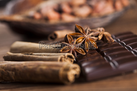 cinnamon and anise dark chocolate with