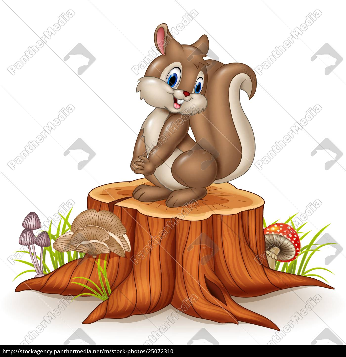 Cartoon Funny Squirrel On Tree Stump Stock Image 25072310 Panthermedia Stock Agency The best selection of royalty free tree stump cartoon vector art, graphics and stock illustrations. https stockagency panthermedia net m stock photos 25072310 cartoon funny squirrel on tree stump