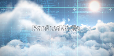 composite image of blue data