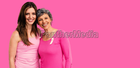 composite image of smiling women in
