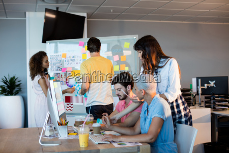 creative business team working together