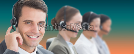 composite image of business people with