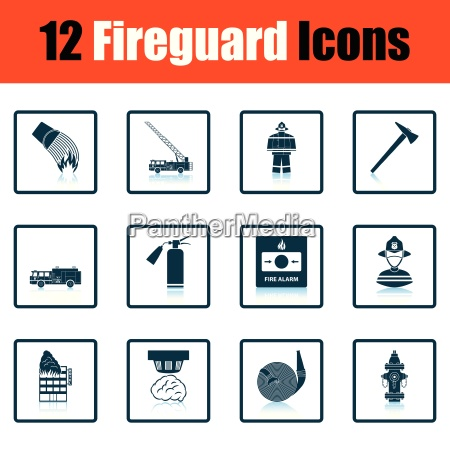 set of fire service icons