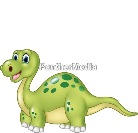 cartoon funny dinosaur isolated on white