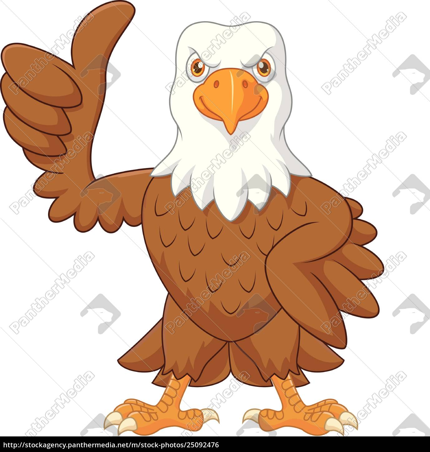 American Eagle Credit Card Login >> Cartoon funny eagle giving thumb up isolated on white - Royalty free photo - #25092476 ...