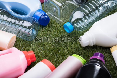 various types of plastic water bottle