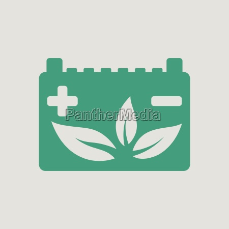 car battery leaf icon