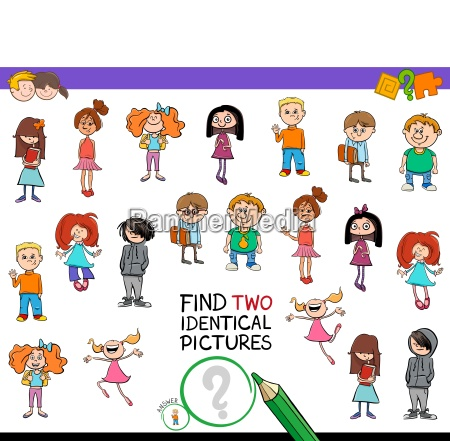 find two identical kids game for
