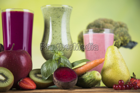 cocktails, with, fresh, fruits, , vitamin, and - 25106056