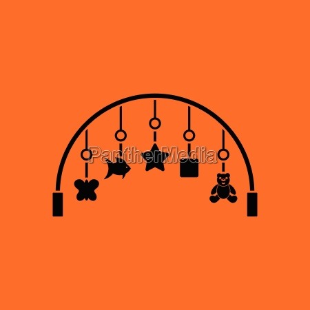 baby arc with hanged toys icon