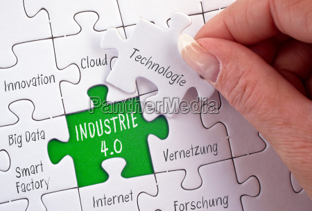 industry 40 business puzzle concept