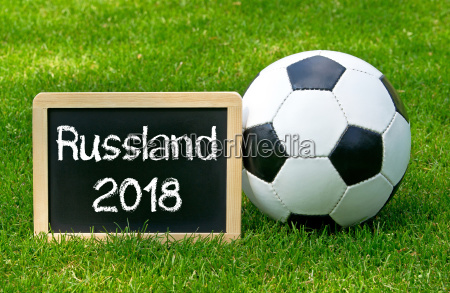 football with chalk board russia 2018
