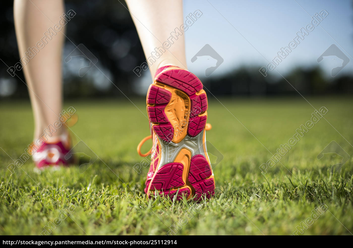 young, fitness, woman, running, , training, and - 25112914