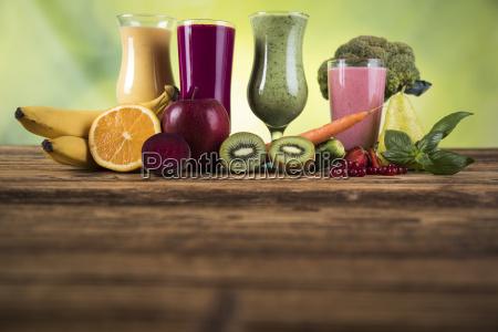 sport, diet, cocktails, , , fitness, , wooden, background - 25113070