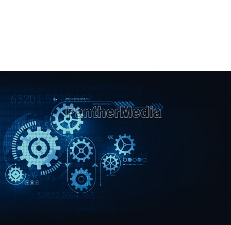 vector abstract background technology gear concept