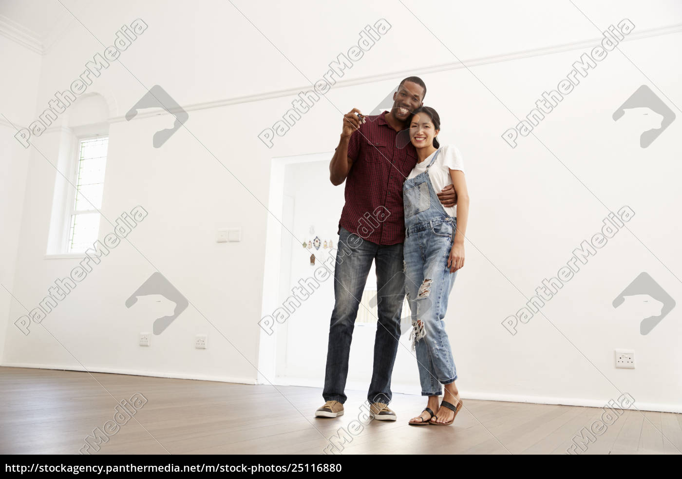 Royalty free photo 25116880 - Portrait Of Excited Young Couple Moving Into  New Home Together