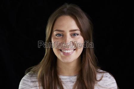 head and shoulders studio portrait of