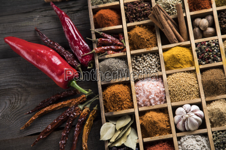 herbs, and, spices, on, a, wooden - 25120700
