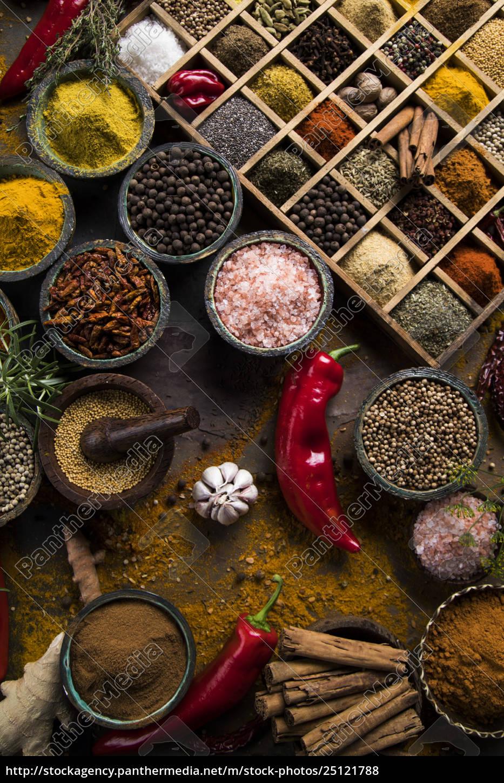 spice, still, life, , wooden, bowl - 25121788