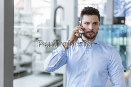portrait of man on cell phone