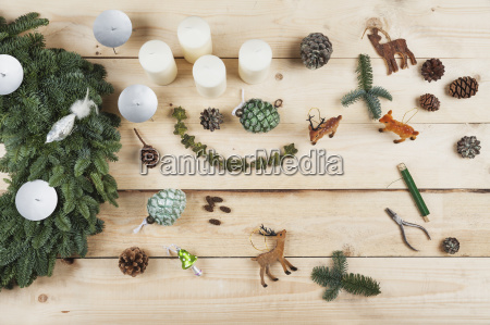 advent wreath decoration items self made