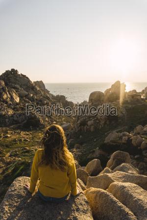 italy sardinia woman on a hiking