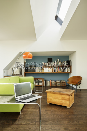 germany modern apartement with laptop