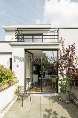 germany cologne modern house and balconies