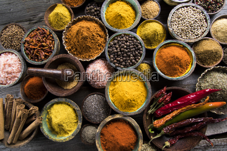 a selection of various colorful spices