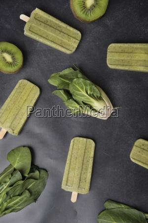 homemade kiwi chard popsicles