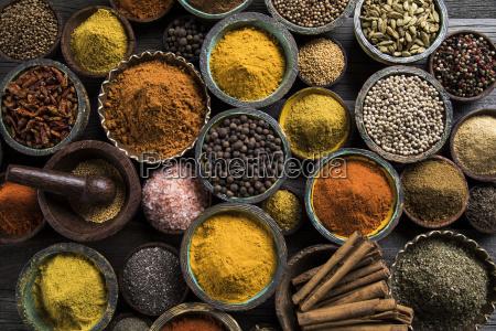 spice, still, life, , wooden, bowl - 25126144