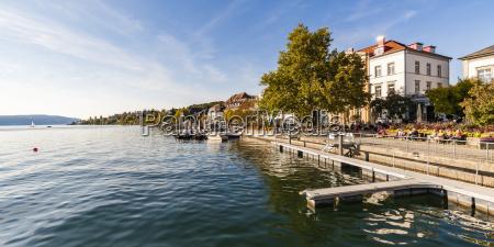 germany baden wuerttemberg ueberlingen lakeside promenade