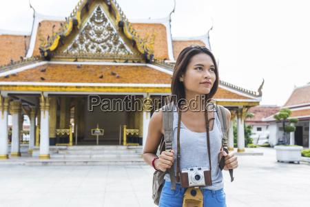thailand bangkok portrait of tourist with