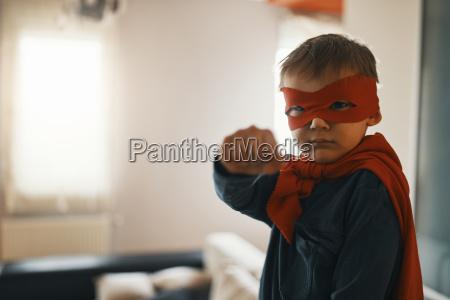 portrait of little boy dressed up