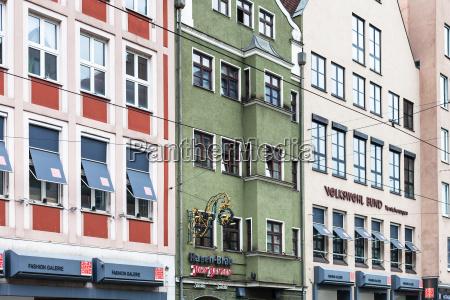 houses on karolinenstrasse street in augsburg
