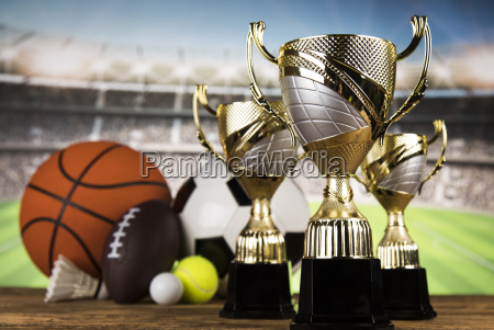 trophy for champion sport background