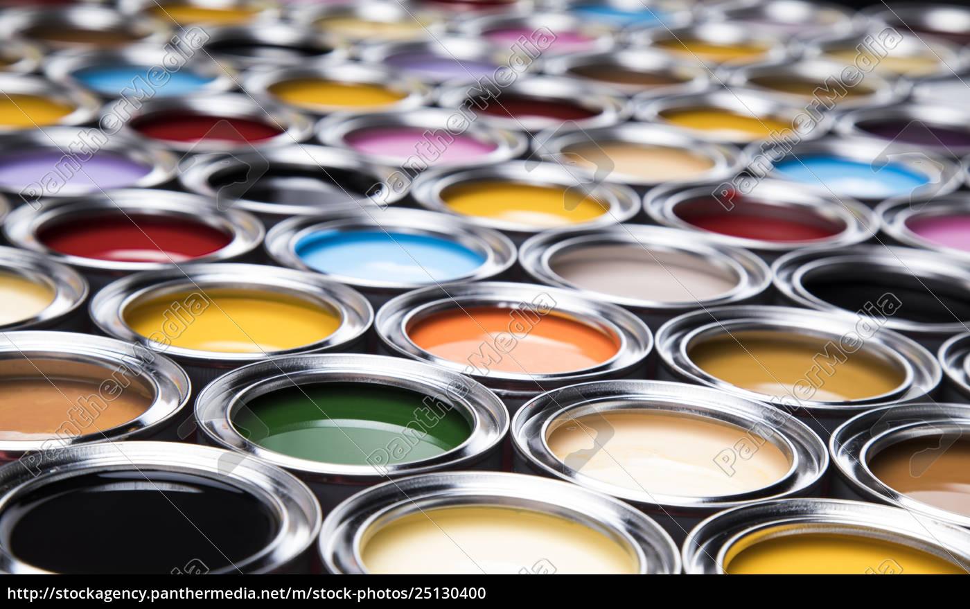 colorful, paint, cans, set - 25130400