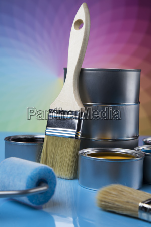 paint, brush, , tin, can, and, color - 25130926