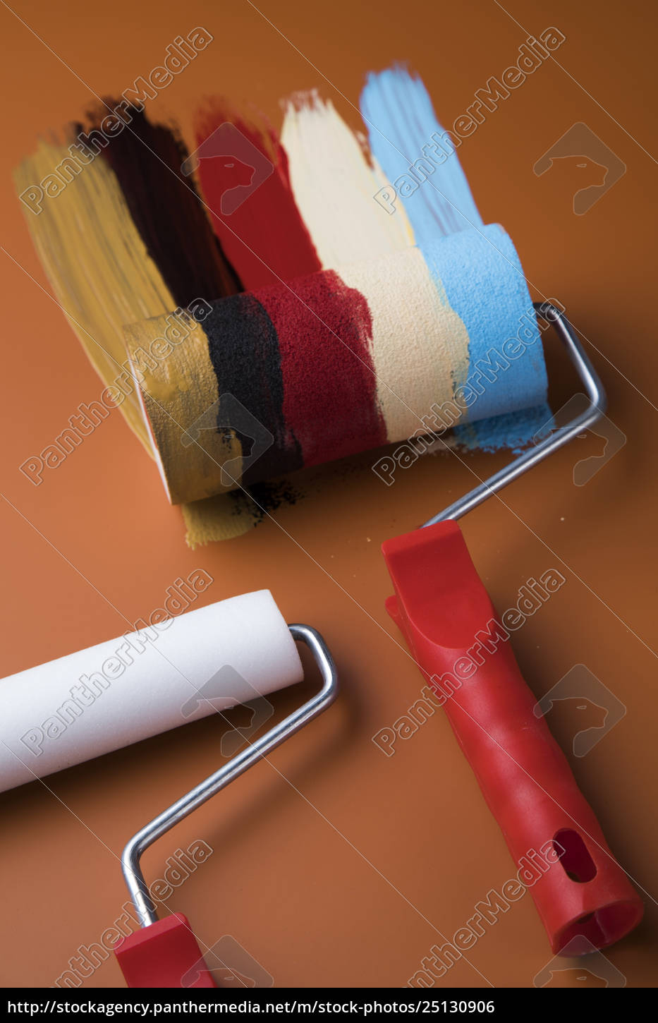 paint, roller, , cans, with, color - 25130906
