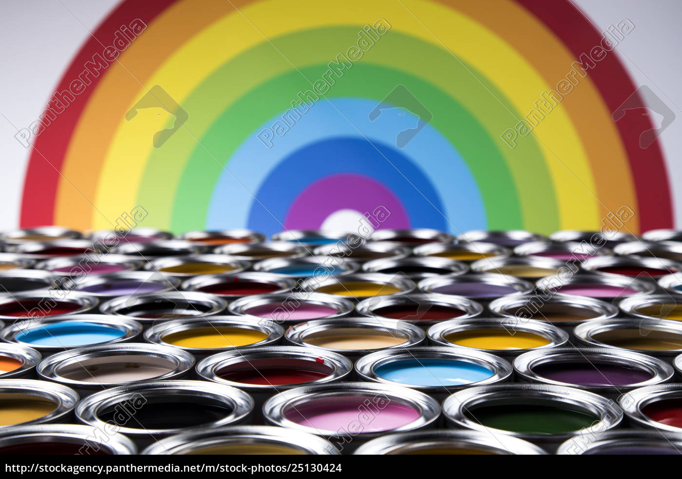 rainbow, colors, , group, of, tin, metal - 25130424