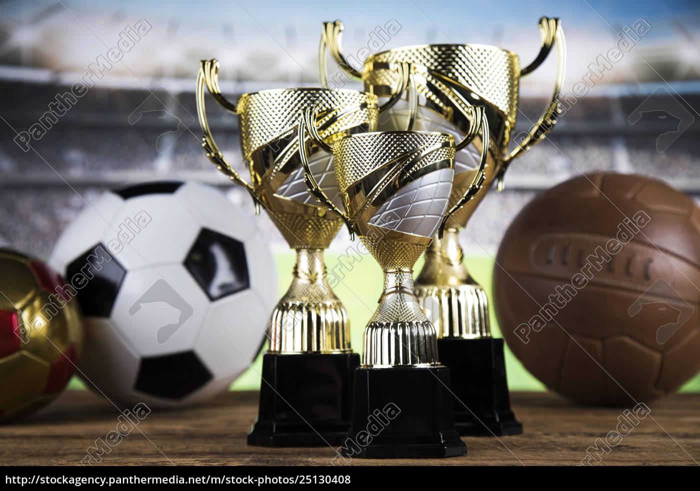 trophy, winning, , sport, ball, background - 25130408