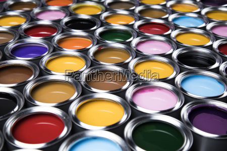 background, from, multi, color, cans, of - 25131266