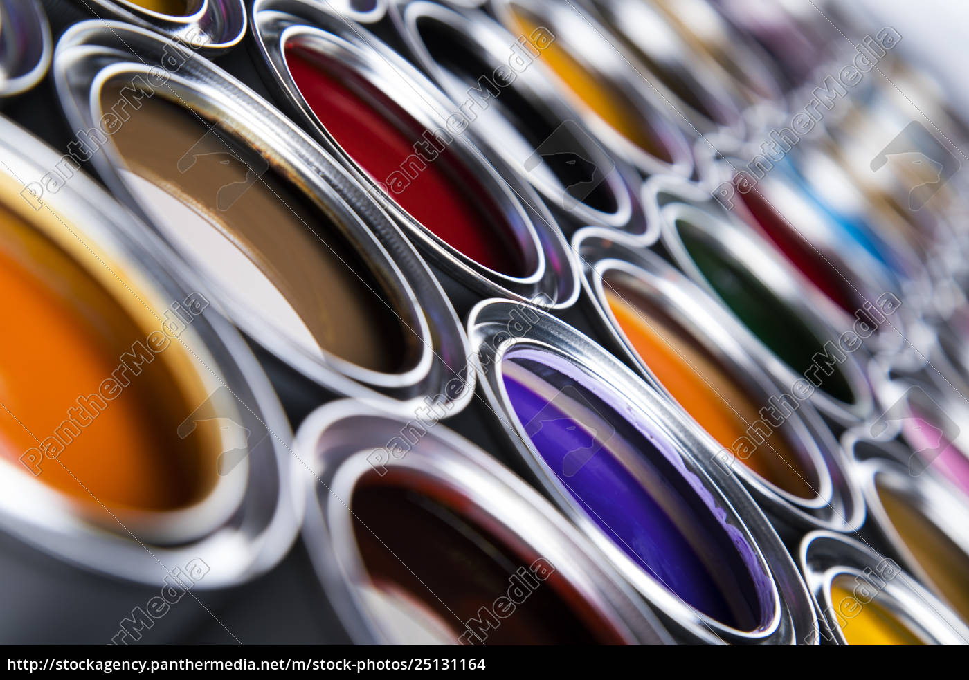 collection, of, colored, paints, cans - 25131164